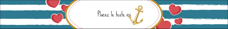 """9¾"""" x 1¼"""" Étiquettes enveloppantes - Ancre de Saint-Valentin"""