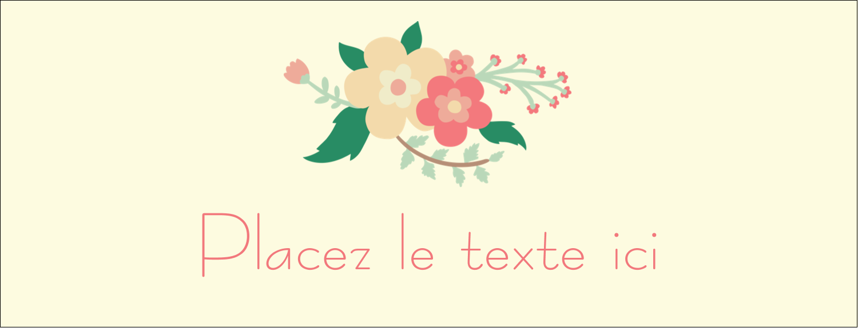 """1-7/16"""" x 3¾"""" Affichette - Couronne florale"""