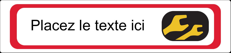 """3½"""" x 1-1/32"""" Étiquette Industrielles - Clés"""
