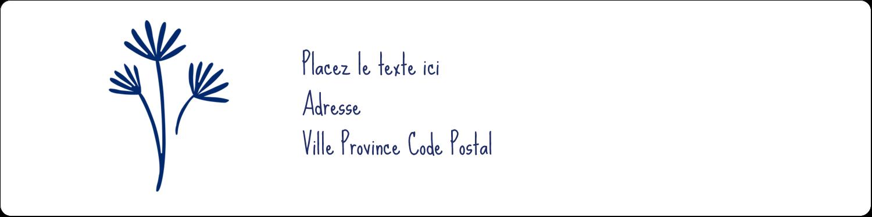 """1⅓"""" x 4"""" Étiquettes d'adresse - Petit bouquet bleu"""
