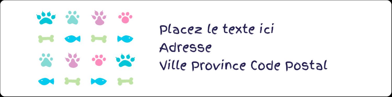 """1⅓"""" x 4"""" Étiquettes d'adresse - Amis poilus"""