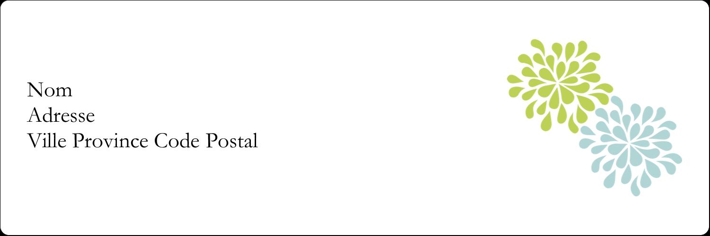 """8½"""" x 11"""" Intercalaires / Onglets - Fleurs bleues et vertes"""