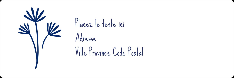 "8½"" x 11"" Intercalaires / Onglets - Petit bouquet bleu"