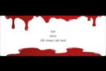 Halloween sanglante Étiquettes d'adresse - gabarit prédéfini. <br/>Utilisez notre logiciel Avery Design & Print Online pour personnaliser facilement la conception.