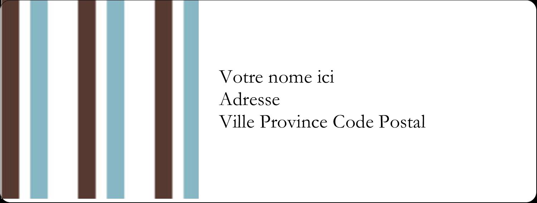 """1"""" x 4"""" Étiquettes d'adresse - Rayures bleues"""