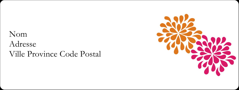 """1"""" x 4"""" Étiquettes d'adresse - Fête prénuptiale en rose et orange"""