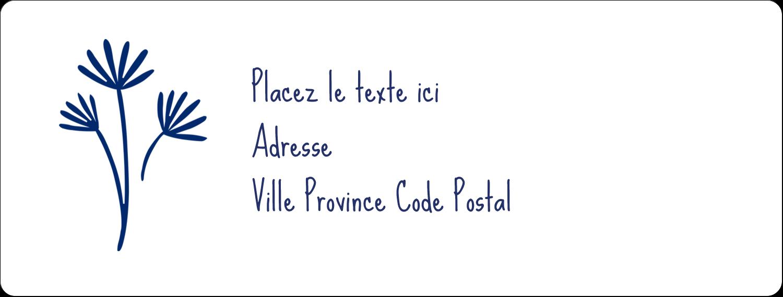 """1"""" x 4"""" Étiquettes d'adresse - Petit bouquet bleu"""