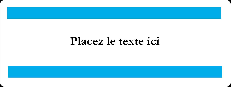 """2⅝"""" x 1"""" Étiquettes Voyantes - Barre bleue"""
