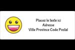 Visages d'émojis Étiquettes d'adresse - gabarit prédéfini. <br/>Utilisez notre logiciel Avery Design & Print Online pour personnaliser facilement la conception.