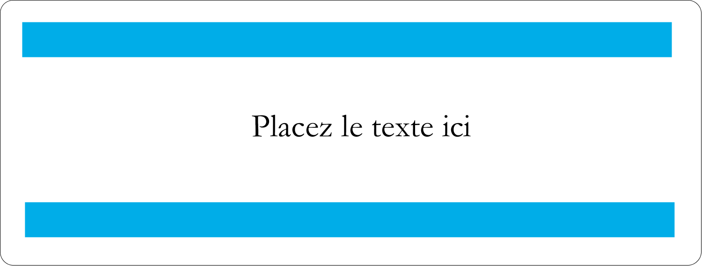"""4"""" x 3⅓"""" Étiquettes D'Identification - Barre bleue"""