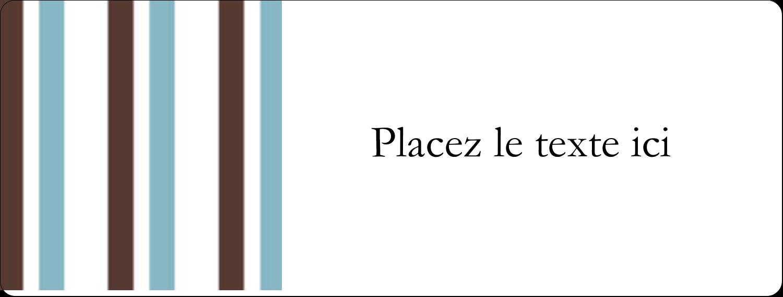 """2⅝"""" x 1"""" Étiquettes Voyantes - Rayures bleues"""