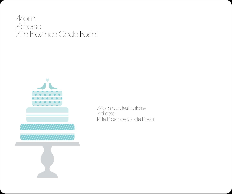 """½"""" x 1¾"""" Étiquettes D'Adresse - Figurines d'oiseau bleu pour gâteau de noces"""