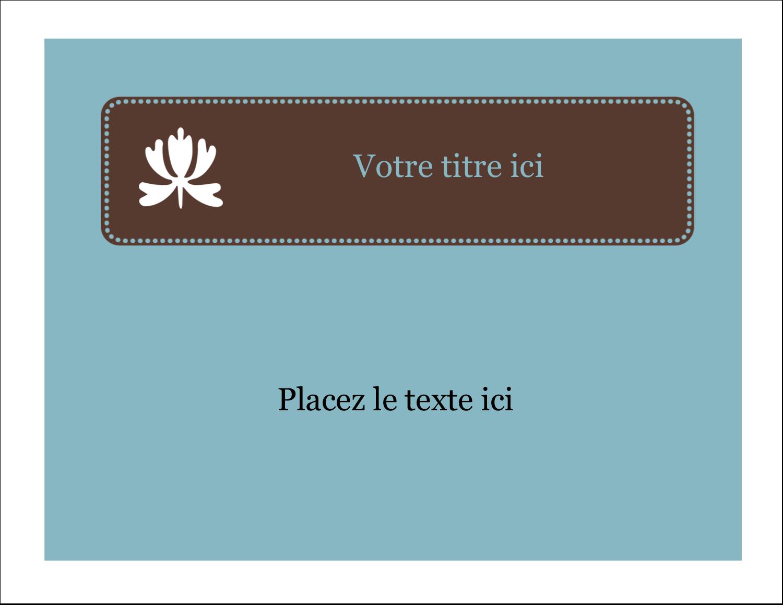 """1¾"""" x ½"""" Étiquettes D'Identification - Bordure en brun et bleu"""