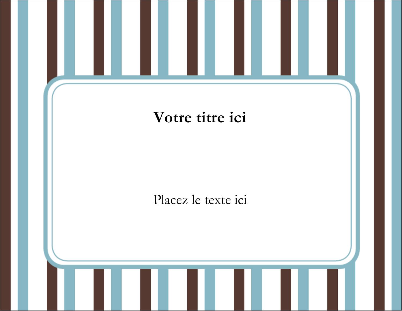 """1¾"""" x ½"""" Étiquettes D'Identification - Rayures bleues"""