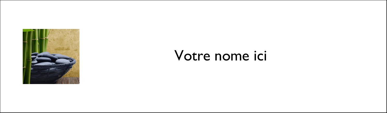 """2½"""" x 8½"""" Affichette - Bien-être"""