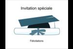 Remise des diplômes en bleu Cartes de notes - gabarit prédéfini. <br/>Utilisez notre logiciel Avery Design & Print Online pour personnaliser facilement la conception.
