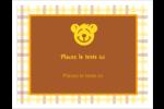 Ours jaune Cartes de notes - gabarit prédéfini. <br/>Utilisez notre logiciel Avery Design & Print Online pour personnaliser facilement la conception.