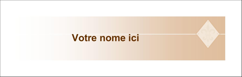 """3½"""" x 11"""" Affichette - Diamant beige"""