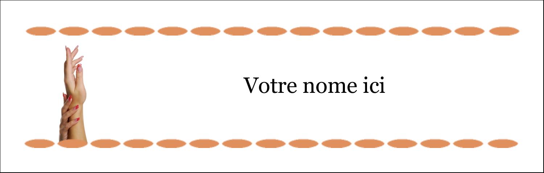 """4¼"""" x 5½"""" Carte de note - Soins de beauté"""