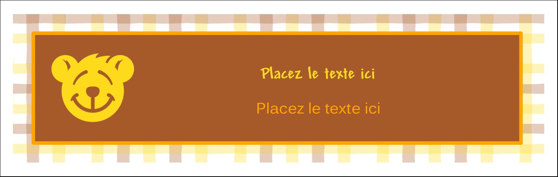 "3½"" x 11"" Affichette - Ours jaune"