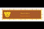 Ours jaune Affichette - gabarit prédéfini. <br/>Utilisez notre logiciel Avery Design & Print Online pour personnaliser facilement la conception.