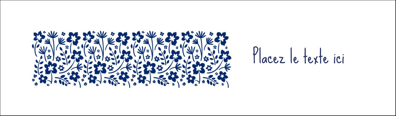 """3½"""" x 11"""" Affichette - Petit bouquet bleu"""