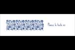 Petit bouquet bleu Affichette - gabarit prédéfini. <br/>Utilisez notre logiciel Avery Design & Print Online pour personnaliser facilement la conception.