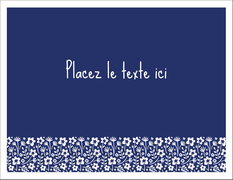 """8½"""" x 11"""" Cartes Et Articles D'Artisanat Imprimables - Petit bouquet bleu"""