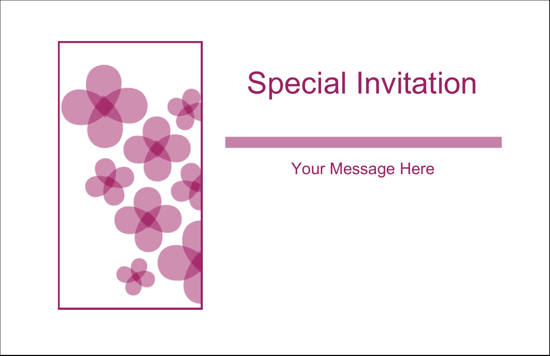 "5½"" x 8½"" Greeting Card - Purple Blossoms"
