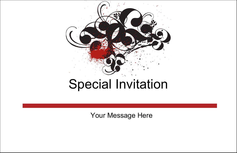 "5½"" x 8½"" Greeting Card - Dramatic Curlicues"