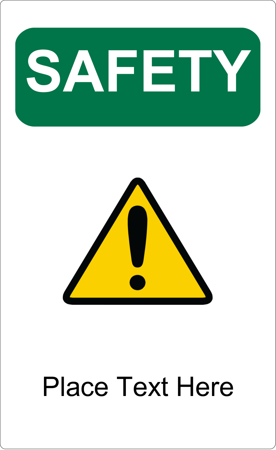 "5"" x 8⅛"" Shipping Label - Safety Prevention"