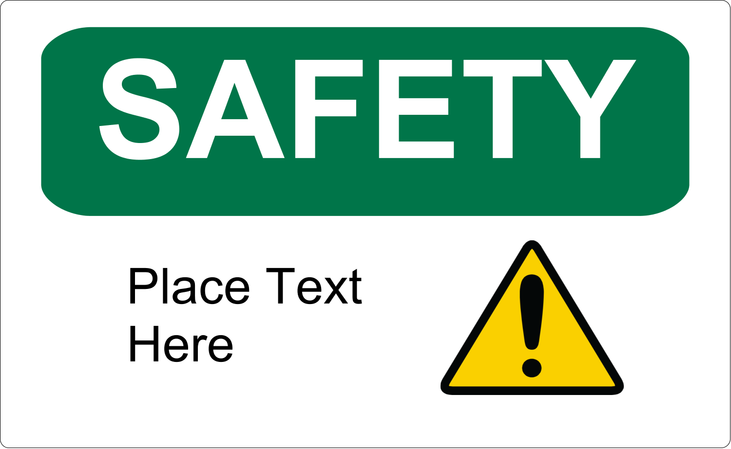 """8⅛"""" x 5"""" Shipping Label - Safety Prevention"""