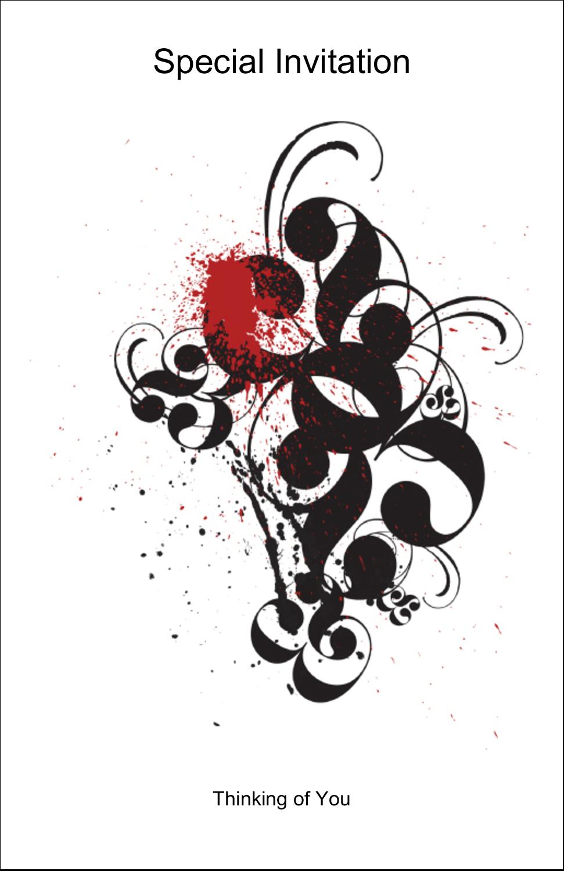 "5"" x 8½"" Half Fold Card - Dramatic Curlicues"