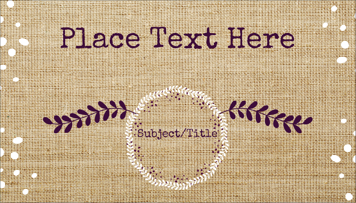 "2"" x 3½"" Business Card - Fringed Burlap"