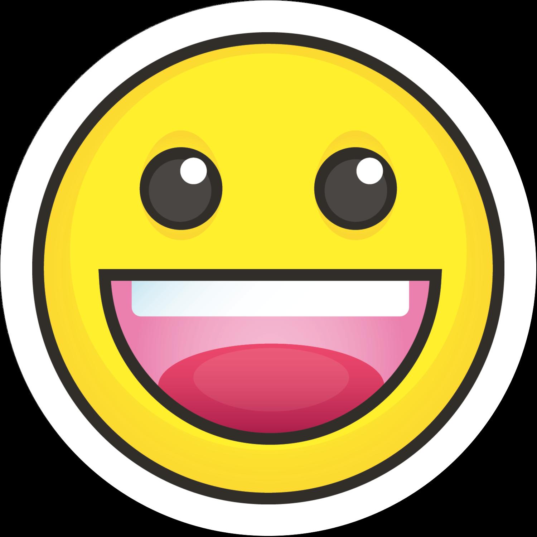 """2½"""" Round Label - Emoji Faces"""