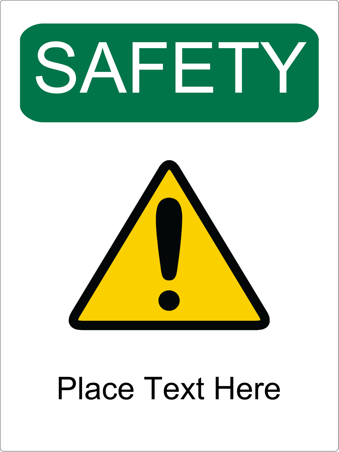 x  Industrial Label - Safety Prevention