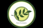 Rameau d'olivier simple Étiquettes rondes - gabarit prédéfini. <br/>Utilisez notre logiciel Avery Design & Print Online pour personnaliser facilement la conception.