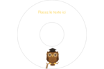 Hibou et diplôme Étiquettes de classement - gabarit prédéfini. <br/>Utilisez notre logiciel Avery Design & Print Online pour personnaliser facilement la conception.