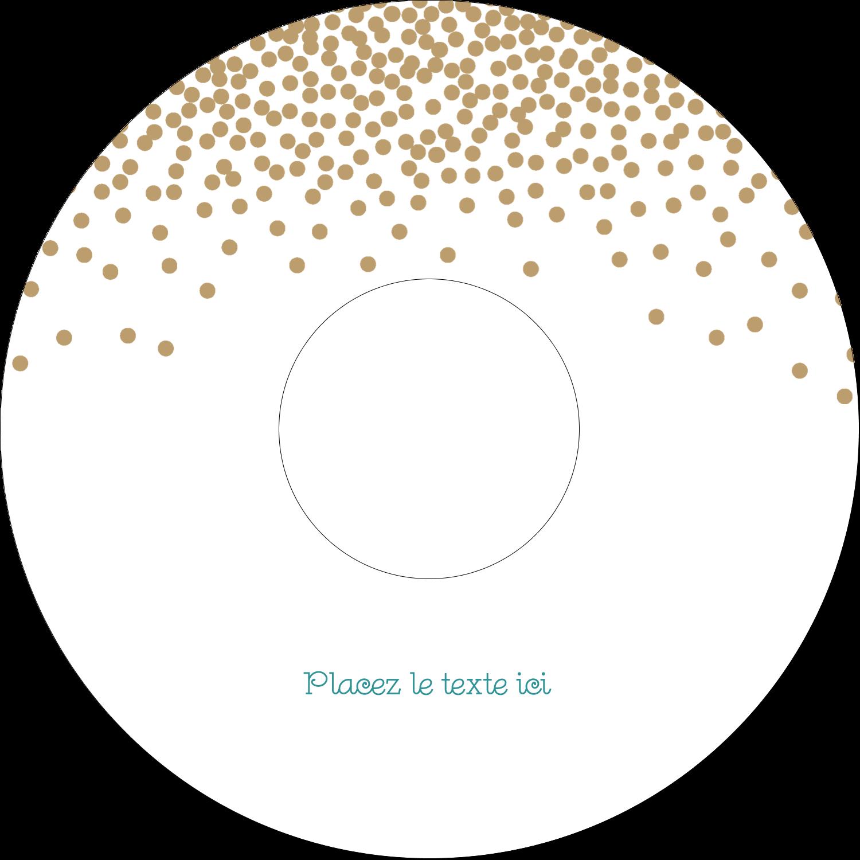 Lumières dorées Étiquettes Pour Médias - gabarit prédéfini. <br/>Utilisez notre logiciel Avery Design & Print Online pour personnaliser facilement la conception.