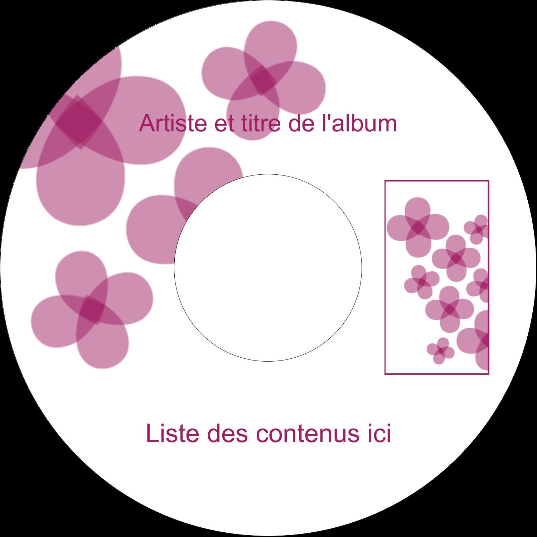 """⅔"""" x 3-7/16"""" Étiquettes de classement - Fleurs violettes"""