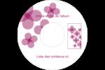 Fleurs violettes Étiquettes de classement - gabarit prédéfini. <br/>Utilisez notre logiciel Avery Design & Print Online pour personnaliser facilement la conception.