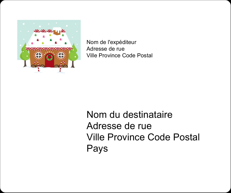 """½"""" x 1¾"""" Étiquettes D'Adresse - Maison en pain d'épices"""