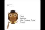 Hibou et diplôme Étiquettes D'Adresse - gabarit prédéfini. <br/>Utilisez notre logiciel Avery Design & Print Online pour personnaliser facilement la conception.