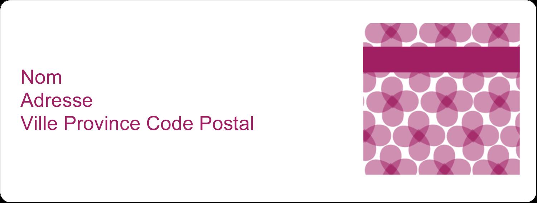 """1"""" x 4"""" Étiquettes d'adresse - Fleurs violettes"""