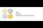Cercles urbains jaunes Intercalaires / Onglets - gabarit prédéfini. <br/>Utilisez notre logiciel Avery Design & Print Online pour personnaliser facilement la conception.