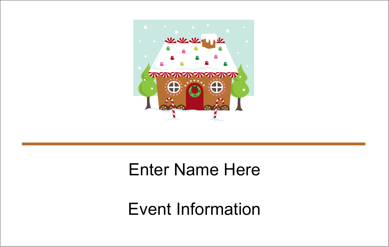 2¼ x 3½ Name Tags - Gingerbread House