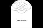 Monogramme de mariage Étiquettes arrondies - gabarit prédéfini. <br/>Utilisez notre logiciel Avery Design & Print Online pour personnaliser facilement la conception.
