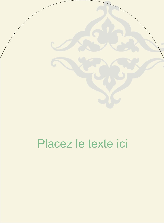 """4¾"""" x 3½"""" Étiquettes rectangulaires - Manuscrit de mariage"""