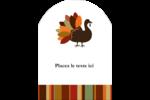 Feuilles et dinde Étiquettes rectangulaires - gabarit prédéfini. <br/>Utilisez notre logiciel Avery Design & Print Online pour personnaliser facilement la conception.