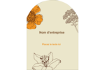 Illustrations florales Étiquettes rectangulaires - gabarit prédéfini. <br/>Utilisez notre logiciel Avery Design & Print Online pour personnaliser facilement la conception.